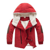 BESSKY Children Jackets Boys Hooded With Fur Outerwear Warm Winter Jacket Clothing_
