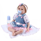 Silcone Reborn Baby Dolls Lifelike Baby Doll Toddler Toys Blue
