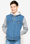 PEOPLE'S DENIM Men Jacket Hoodie Arthur - Blue