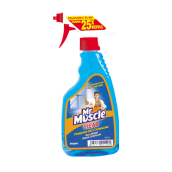 MR. MUSCLE Clear Glass Liquid Blue Pump 500ml