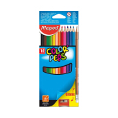 MAPED 12 Color'Peps cardboard box free pencil+sharpener