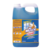 MR. MUSCLE Clear Glass Liquid Blue Gallon 4L