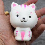 BESSKY Cute Kitten Squishy Decor Slow Rising Kid Squeeze Relieve Anxiet Gift Toys- White