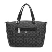 COACH Signature Prairie Satchel  - Black Smoke [36311SVDK6]