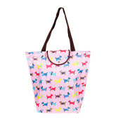 HK Shopping Bag Dogs - Pink 39x37x13cm