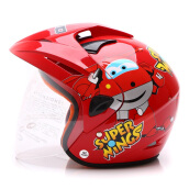 WTO Helmet Kids Pet SuperWings Red M