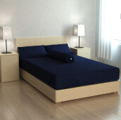 PILLOW PEOPLE Sprei Color Set - Dress Blue/160