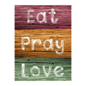NAIL YOUR ART Eat Pray Love Color Wall Clock/32x24Cm
