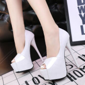 Sweet White Solid PU Pumps