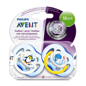 AVENT Freeflow Soother 18m+ TwinPack SCF186/24