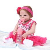 Reborn Baby Vinyl Doll 55cm Red