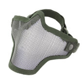 [Kingstore]Steel Mesh Half Face Mask Guard Protect For Paintball Airsoft Game Hunting