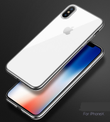 Reys R-12 Silicone anti-fall Transparent IPHONE X case cover-Silver