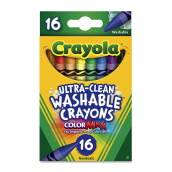 CRAYOLA 16ct Regular Washable Crayons 526916