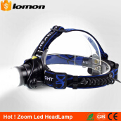 Lomon Zoomable LED Headlamp 5000 Lumens Super Bright Zoom Headlight Bicycle Bike Cycle Head Light Rechargeable High Power Head Torch