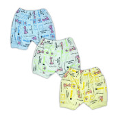 ARDEN & LEON Celana Pendek Cat B2A-BU-07 - [Green, Yellow, Blue] [6-9 months] [Isi 3 Pcs]