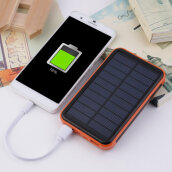 Large Capacity Waterproof Portable Solar Power Bank Dual USB Solar Charger