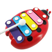 BESSKY Baby Child Kid 5-Note Xylophone Musical Toys Wisdom Development Beetle RD Red