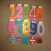 BESSKY Magnetic Wooden Numbers Math Set - Blue