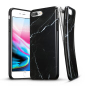 iPhone8 Plus/7 Plus Marble Case, ESR Slim Soft Flexible TPU Marble Pattern Cover for Apple iPhone 8 Plus/7 Plus(Black Sierra)