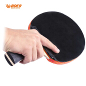 BOER S5 Table Tennis Ping Pong Racket Wooden Handle Pimples-in Rubber Paddle Bat(PENHOLD)