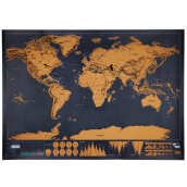 Creative Gift Christmas Gift Scratch World Travel Map Deluxe Edition DIY Painting Personalized Map Black