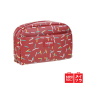 Miniso Official Cosmetic Handy Bag Pouch Peralatan Make Up Red (08F9-7721MN)