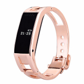Keyao Bluetooth bracelet D8 Full steel Smart Bracelet Sync phone LED DigitalWatch with Vibrate can answer phone for Smartwatch