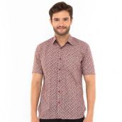 SALT N PEPPER Mens Short Sleeve SNP 113 - Maroon