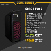 DIGITAL ALLIANCE Core 5 EVO 7 without HDD - Black