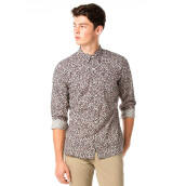 LEVI'S Sunset 1 Pocket Shirt Castanets Caviar P - Grey