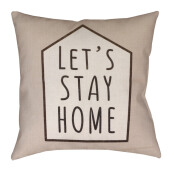 BLOOM & BLOSSOM Cushion Cover - Let's Stay Home  / 44cm x 44cm