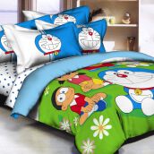 PANTONE Doraemon Garden Bed Cover Set Queen Fitted / 160x200cm