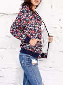 Zipper Up Floral Jacket