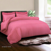 KING RABBIT Bed Cover Single Motif Acqua Pink/ 140x230 cm