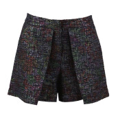 MARKUS LUPFER Sparkle Tweed Violet Short - Print/ Multi