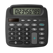 JDwonderfulhouse True Solar Power Energy Electronic Mini Calculator With High Definition LCD - Black