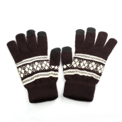 BESSKY New Jacquard Unisex Screen Soft Gloves Mitten Warm Winter Knit-