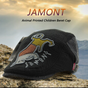 [Kingstore]JAMONT Autumn Winter Cartoon Animal Printed Children Boys Girls Beret Cap Hat