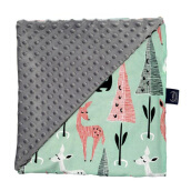 LA MILLOU Minky Calming Blanket Medium- Bambi Deer Galaxy Grey SL076Y