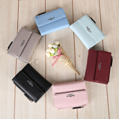 Baellerry Stylish PU Card Holder Short Wallet for Women
