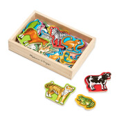 MELISSA & DOUG Magnetic Wooden Animals MD-475