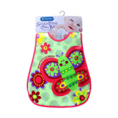 LUCKY BABY Stylo Bib with Flip Crumb Pocket - Butterfly