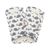 I-ANGEL Organic Cotton Pattern Teething Pad - Dolphin White