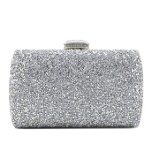 NEW COLLECTION Medium Glitter Clutch - Silver