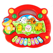 BESSKY Baby Kid Animal Farm Piano Music Toy Developmental Toy - Red