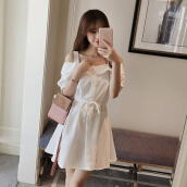Summer Korean New pattern Short sleeve Word dew sexy Dress girl