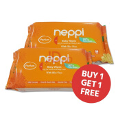 NEPPI Baby Wipes With Aloe Vera Parfum 50s Buy 1 Get 1
