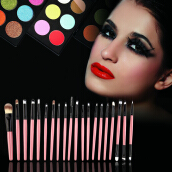 Professional New set of 20 pieces brushes pack complete make-up brushes