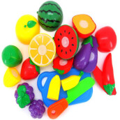 BESSKY 1Set Cutting Fruit Vegetable Pretend Play Children Kid Educational Toy- Multicolor